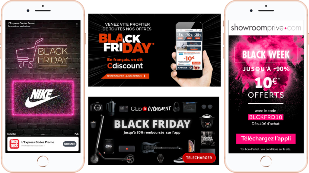 Acquisition mobile black friday addict mobile
