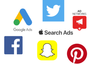 acquisition mobile snapchat facebook pinterest apple search ads google ad networks