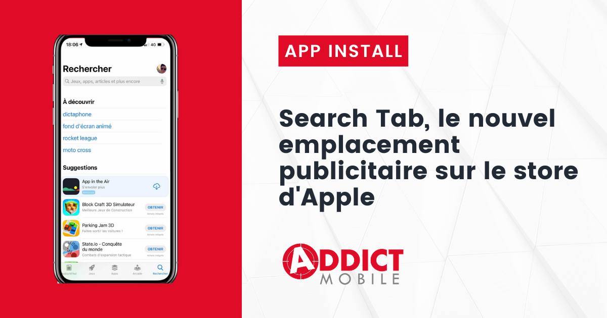 Nouvel emplacement Search Tab