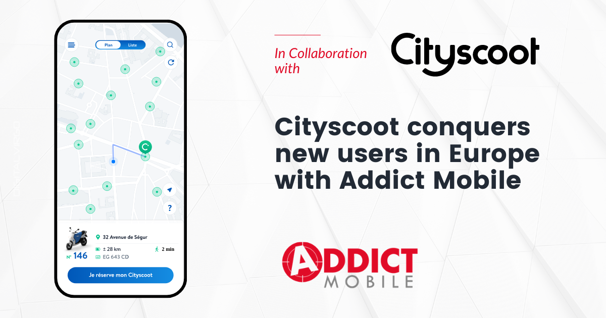 Cityscoot x Addict mobile